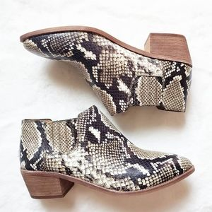 SOLD! Madewell snakeskin boots